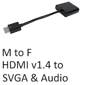 HDMI 1.4 (M) to SVGA & Audio (F) Black OEM Converter Adapter