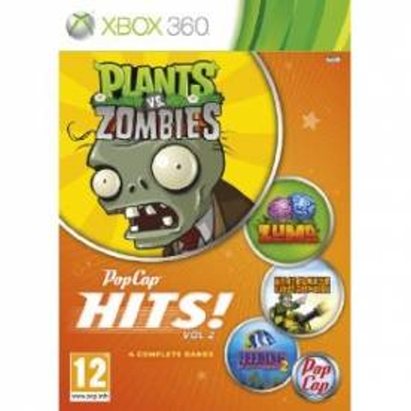 Pop Cap Hits Volume 2 (Plants vs Zombies / Zuma / Feeding Fenzy 2 and Heavy Weapons) Game Xbox 360