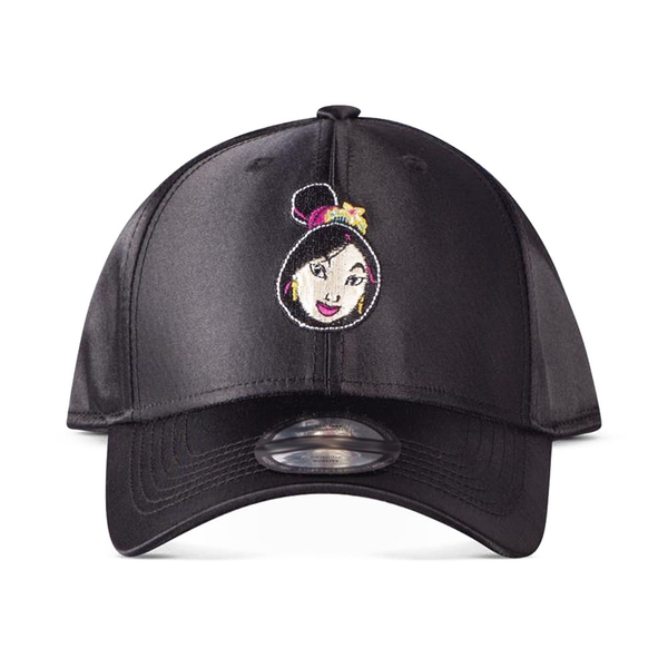 Disney - Mulan Face Patch Curved Bill Cap (Black)