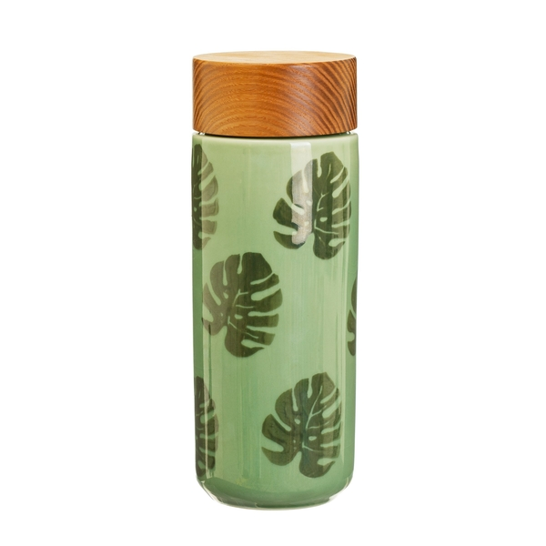 Sass & Belle Cheese Plant Leaf Ceramic Bottle - Image 1