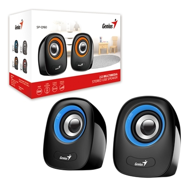 Genius SP-Q160 Blue Stereo Speakers