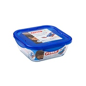 Pyrex Cook & Go Glass Square Dish with Lid 21cm