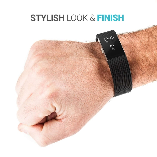Yousave Fitbit Charge 2 Strap Single (Large) - Black - Image 2