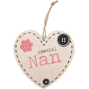 Special Nan Hanging Heart Sign