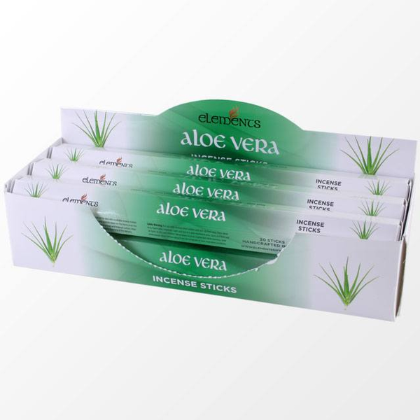 6 Packs of Elements Aloe Vera Incense Sticks