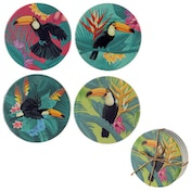 Tropical Toucan Design Set of 4 Novelty Coasters