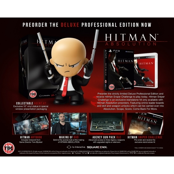 Hitman Absolution Deluxe Professional Edition Game PS3