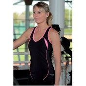 PT Ladies Running Vest Black/Pink 8 (32inch)