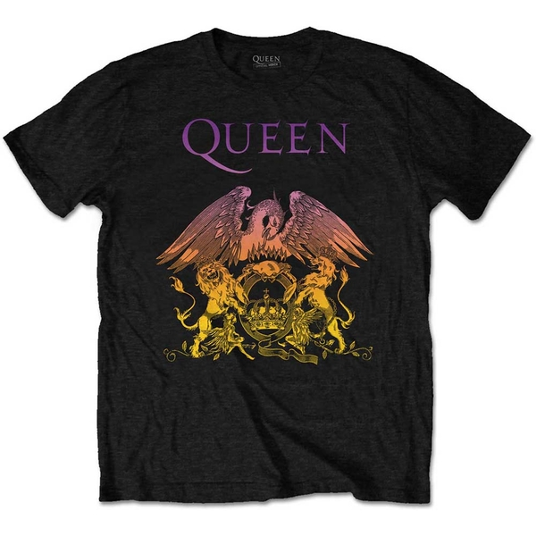 Queen - Gradient Crest Men's Large T-Shirt - Black