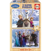 Disney Frozen 2 Super Anna's Friends & Cast Group 50 Piece Wooden Jigsaw Puzzles