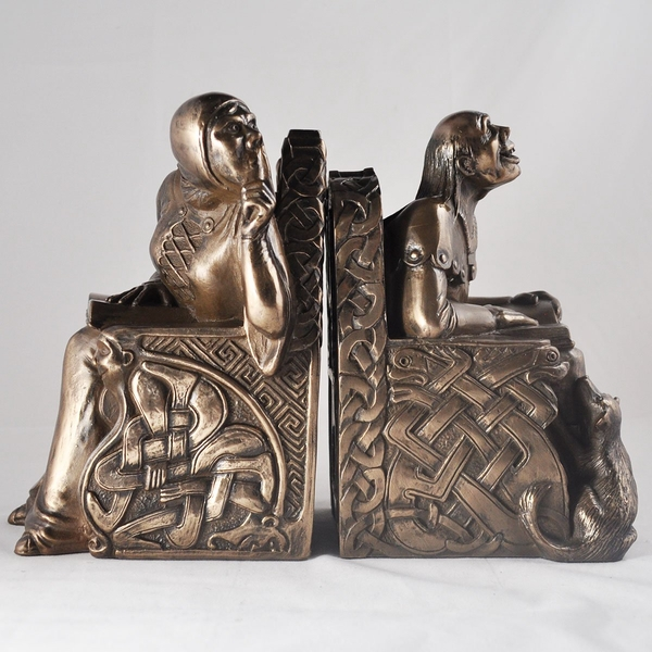 Shh Bronze Bookends Ornament 18cm