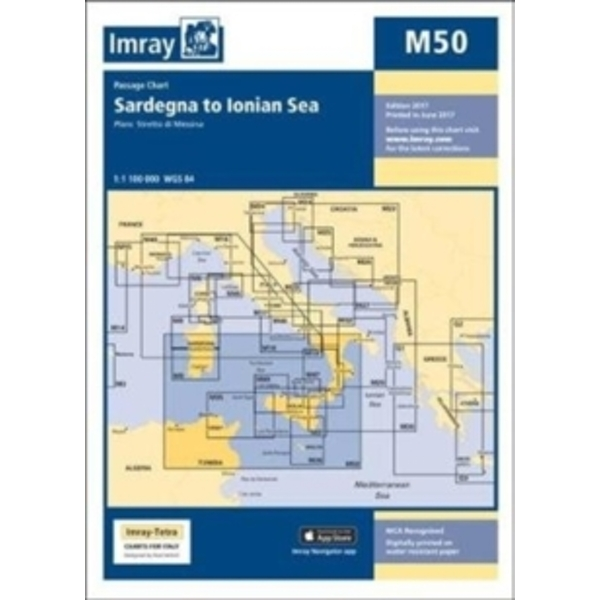 Imray Chart M50 : Sardegna to Ionian Sea : M50