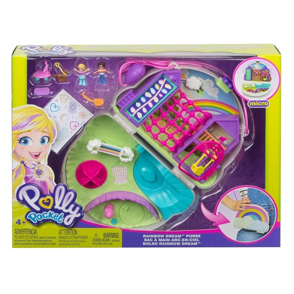 Polly Pocket Cactus Rainbow Dream Purse Compact Play Set - Image 1
