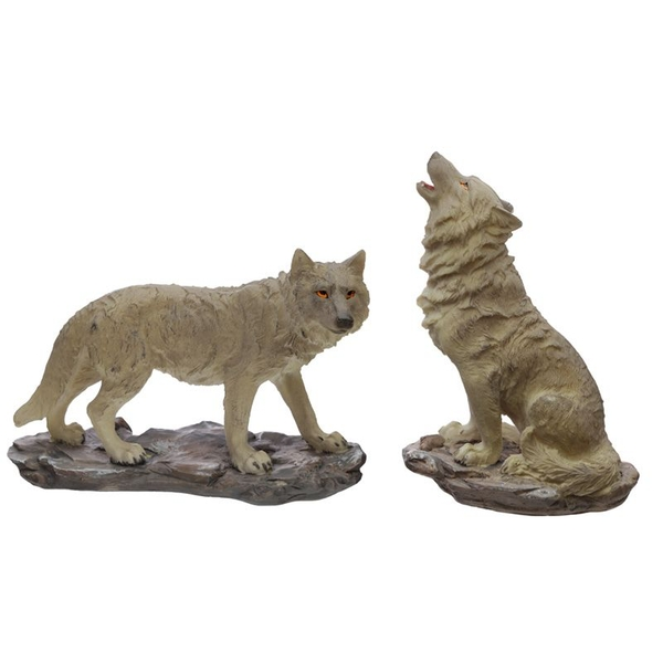 Protector of the North Whispers of the Moon Wolf Figurine