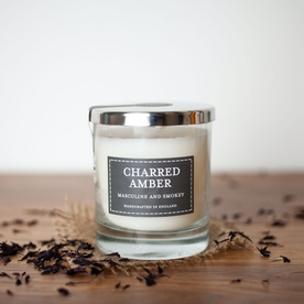 Charred Amber (Pastel Collection) Glass Candle
