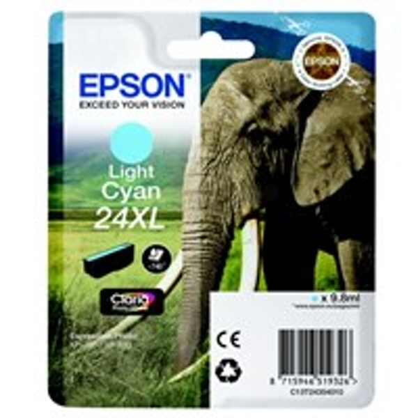 Epson C13T24354012 (24XL) Ink cartridge bright cyan, 500 pages, 10ml
