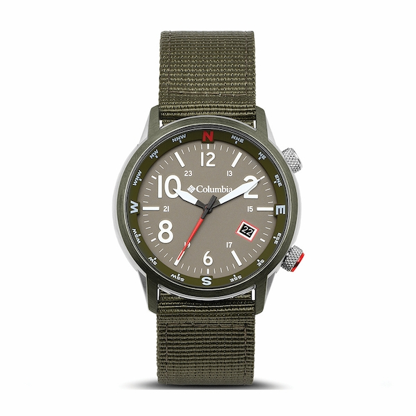Columbia CSC01-008 Outbacker Olive 3-Hand Date Olive Nylon Watch