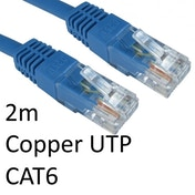 RJ45 (M) to RJ45 (M) CAT6 2m Blue OEM Moulded Boot Copper UTP Network Cable