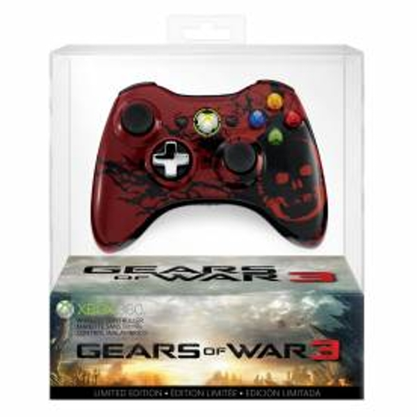 Official Gears Of War 3 Limited Edition Wireless Controller Xbox 360