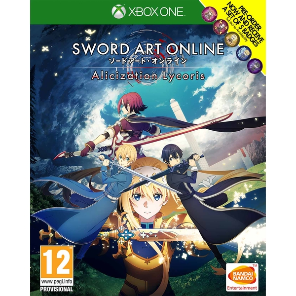 Sword Art Online: Alicization Lycoris Xbox One Game + Bonus DLC & Set of 5 Badges