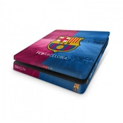 Official Barcelona FC PS4 Slim Console Skin and 2x Controller Skin Combo Pack