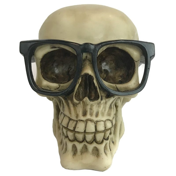 Skull Wearing Glasses Ornament