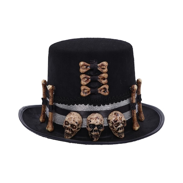 Voodoo Priest's Skull and Bone Hat