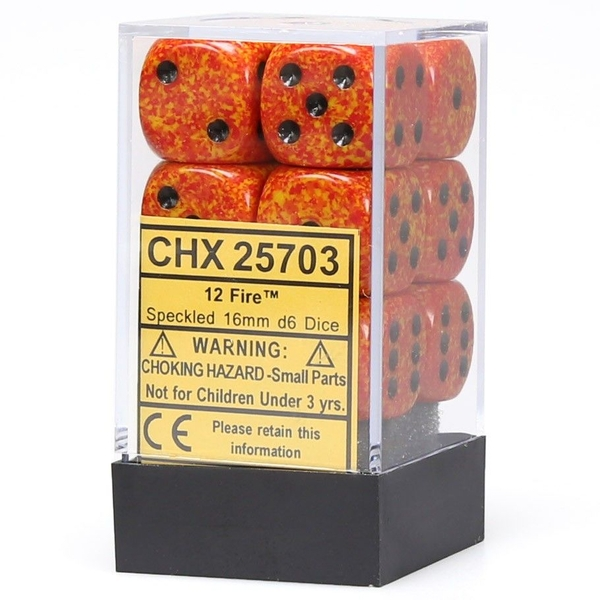 Chessex 16mm d6 Dice Block: Speckled Fire