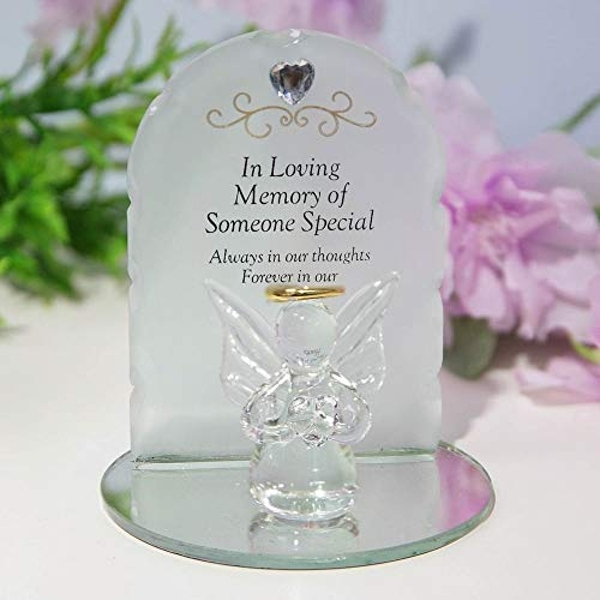 Thoughts Of You Glass Angel Ornament - Someone Special
