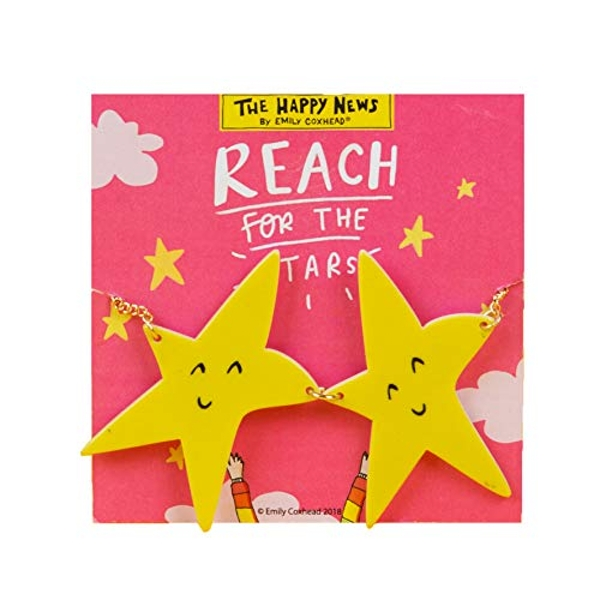 Happy News Acrylic Necklace - Reach For The Stars (Pack of 4)