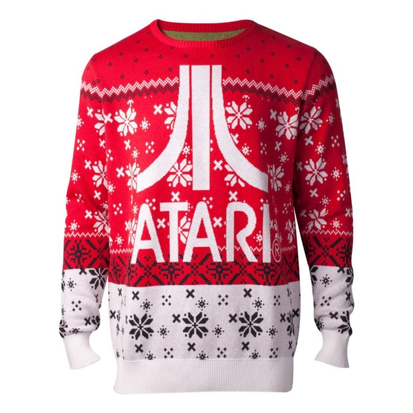 Atari - Logo Christmas Men's Large Sweater - Multi-Colour