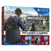 PlayStation 4 D-Chassis (1TB) Black Console With Watch Dogs 2 Early Access Bundle