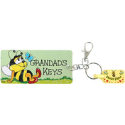 Pack of 6 Grandads Keys Key Rings