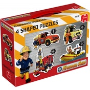 Fireman Sam 4 in 1 Shaped Jigsaw Puzzles