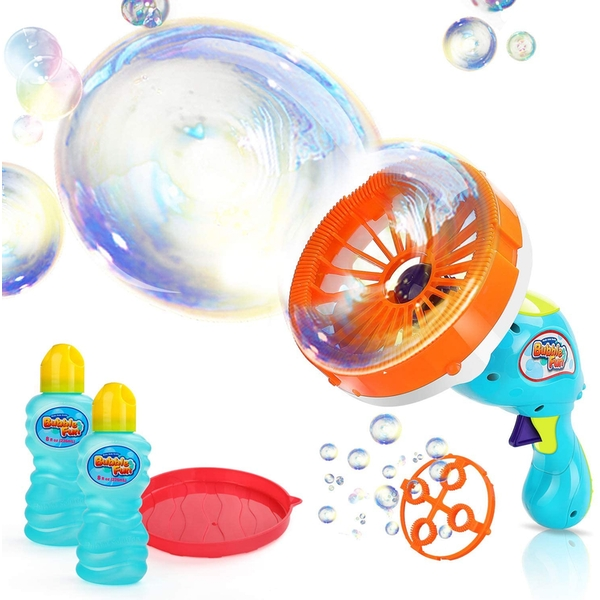 Bubble Fun - Battery Operated Bubble 2 In 1 Fan Blaster