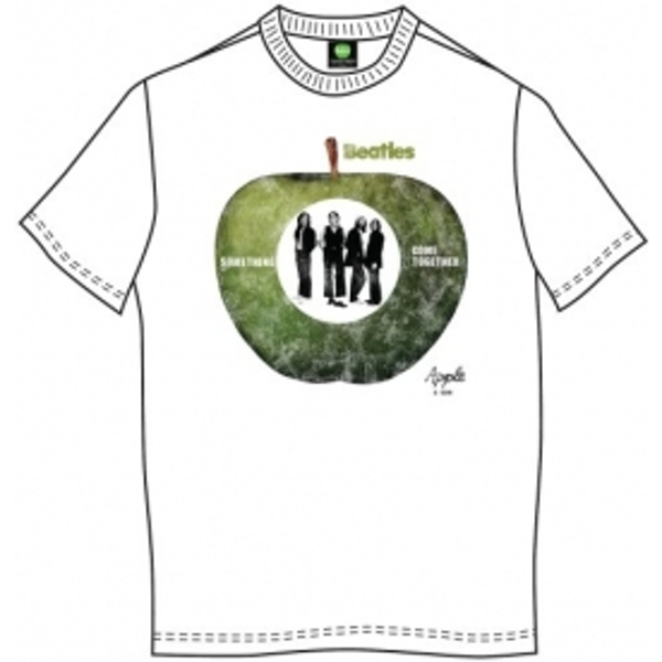 The Beatles Something/Come Together Mens Wht TS: Small