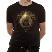 Justice League Movie - Aquaman Symbol Men's Large T-Shirt - Black