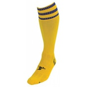 PT 3 Stripe Pro Football Socks Mens Yellow/Royal