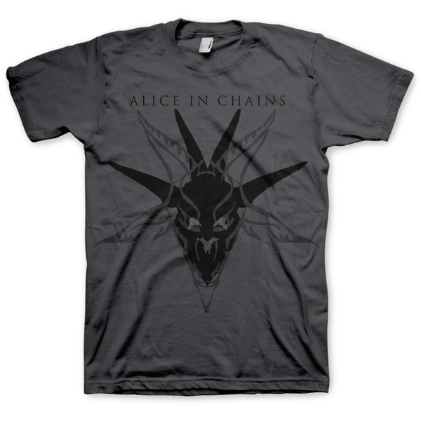 Alice In Chains - Black Skull Unisex Small T-Shirt - Grey