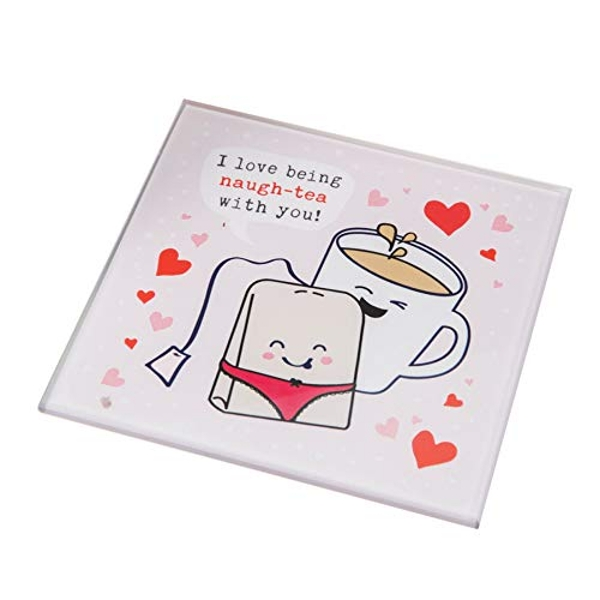 For Your Eyes Only Glass Coaster - Tea with You