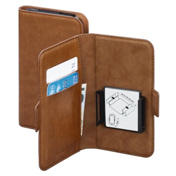 """Hama """"Smart Move"""" Booklet Case, size XL (4.7 - 5.1""""), brown"""