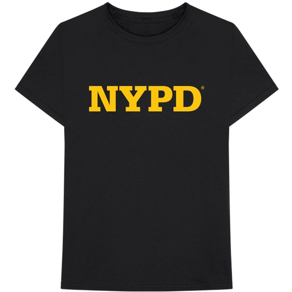New York City - NYPD Text Logo Unisex Medium T-Shirt - Black
