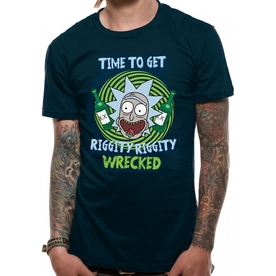 Rick And Morty - Riggity Riggity Wrecked Men's Small T-Shirt - Black