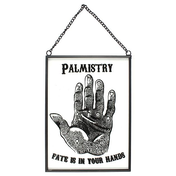 Glass Palmistry Hanging Sign