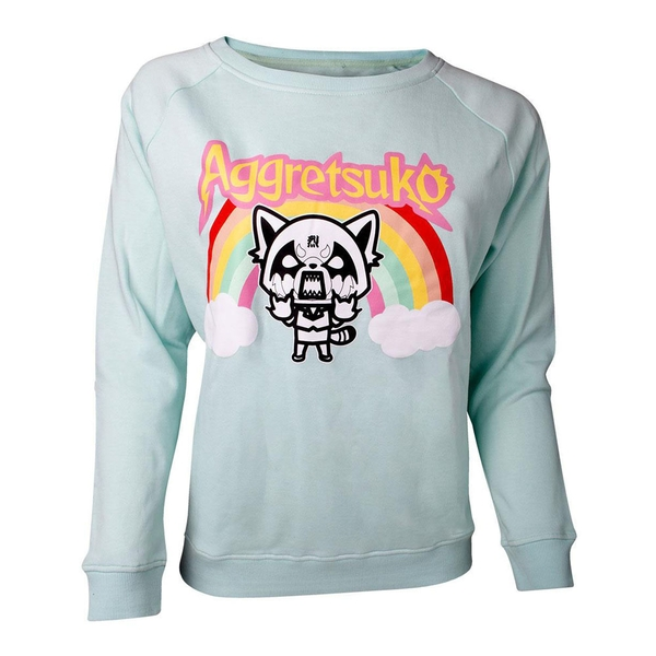 Aggretsuko - Retsuko Rage Rainbow Women's XX-Large Sweater - Green