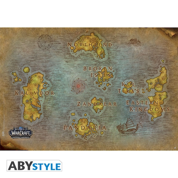 World Of Warcraft - Map (91.5 x 61cm) Large Poster