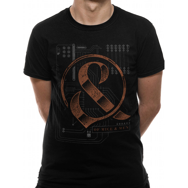 Of Mice And Men - Wired Men's Medium T-Shirt - Black