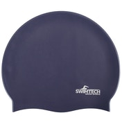 SwimTech Silicone Swim Cap - Navy