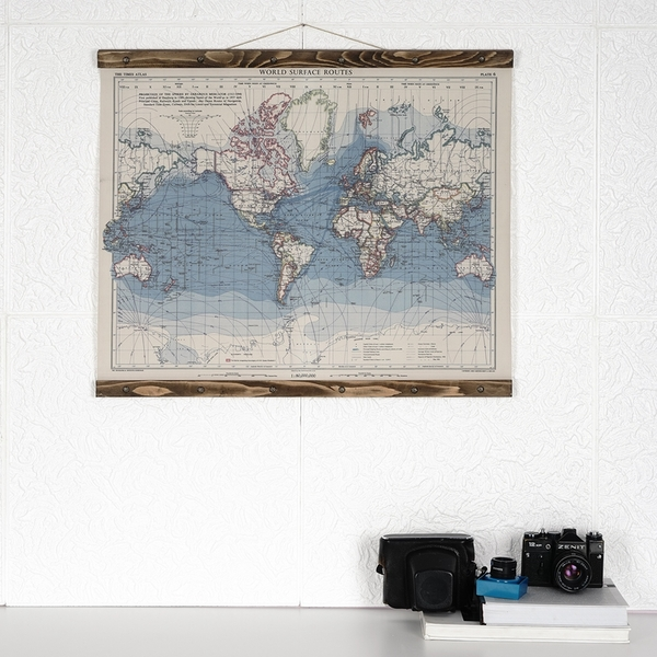 Map114 Multicolor Decorative Framed MDF Painting