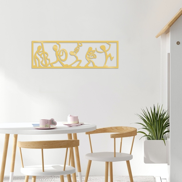 Musicians - Gold Gold Decorative Metal Wall Accessory